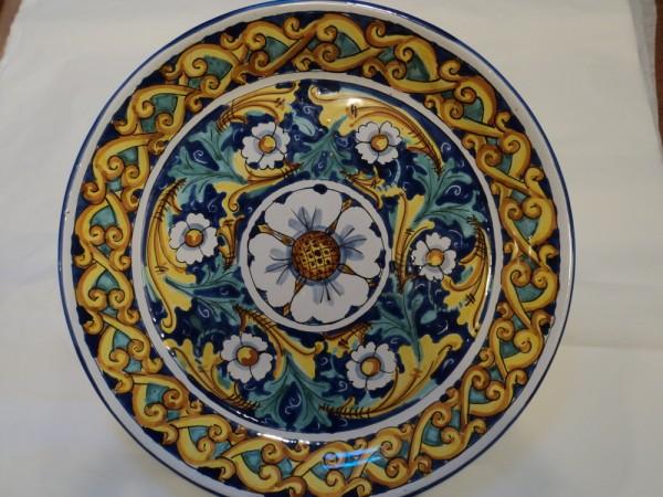 Piatto murale in ceramica artistica decorato a mano - Piatti di frutta decorati ...