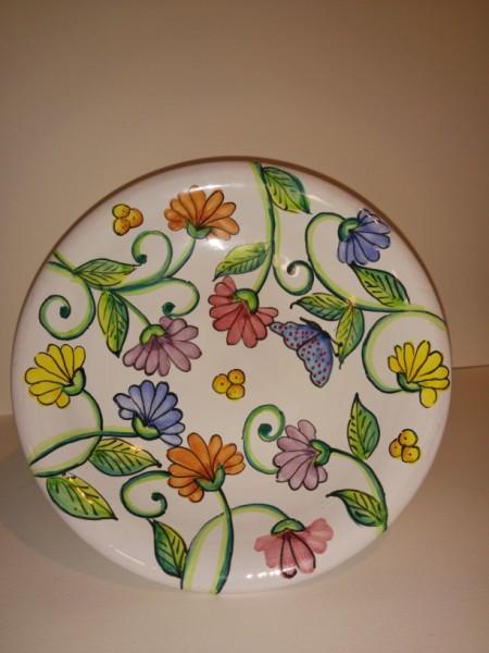 Alzatina in ceramica artistica dipinta a mano   oggetti decoro ...